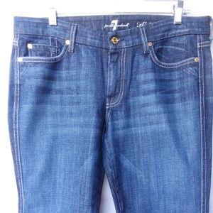 7 FAM A pocket jeans dk wash hemmed 32/29.5
